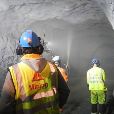 Incycle shotcreting underground in the Garpenberg Mine