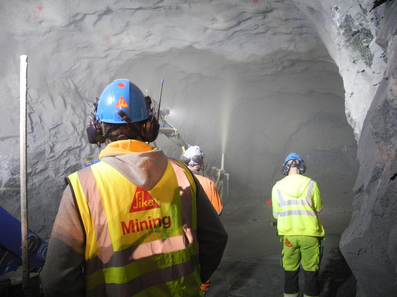 Incycle shotcreting underground in the Garpenberg Mine
