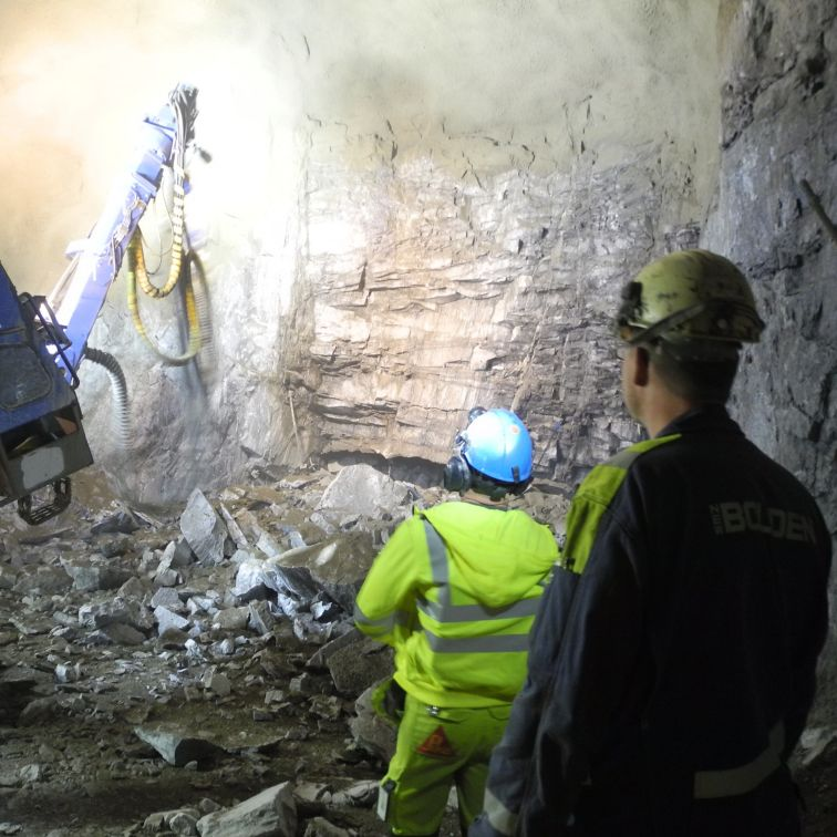 Shotcrete application at the Garpenberg Lappberget ore body