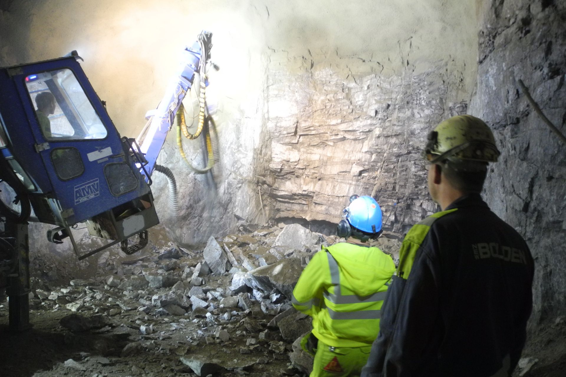 Shotcrete application at the Garpenberg Lappberget ore body