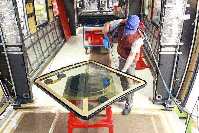 Glass Adhesive Application