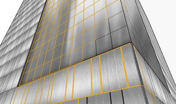 Application of SikaHyflex® sealants to joint metal to glass