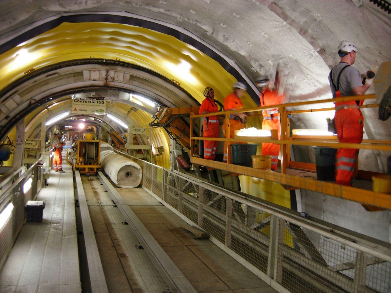 Impermeabilizacion tunel gotardo