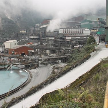Grasberg copper and gold mine in Papua province Indonesia