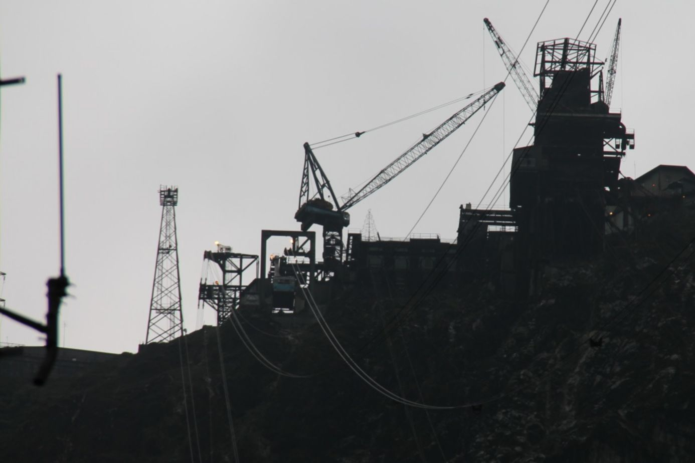 Construction at the Grasberg Copper-Gold Mine
