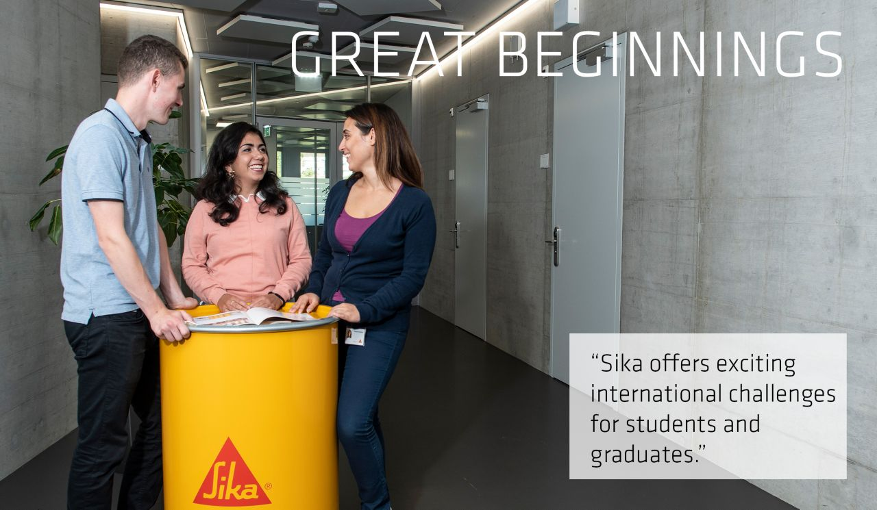 Great Beginnings - Internship at Sika