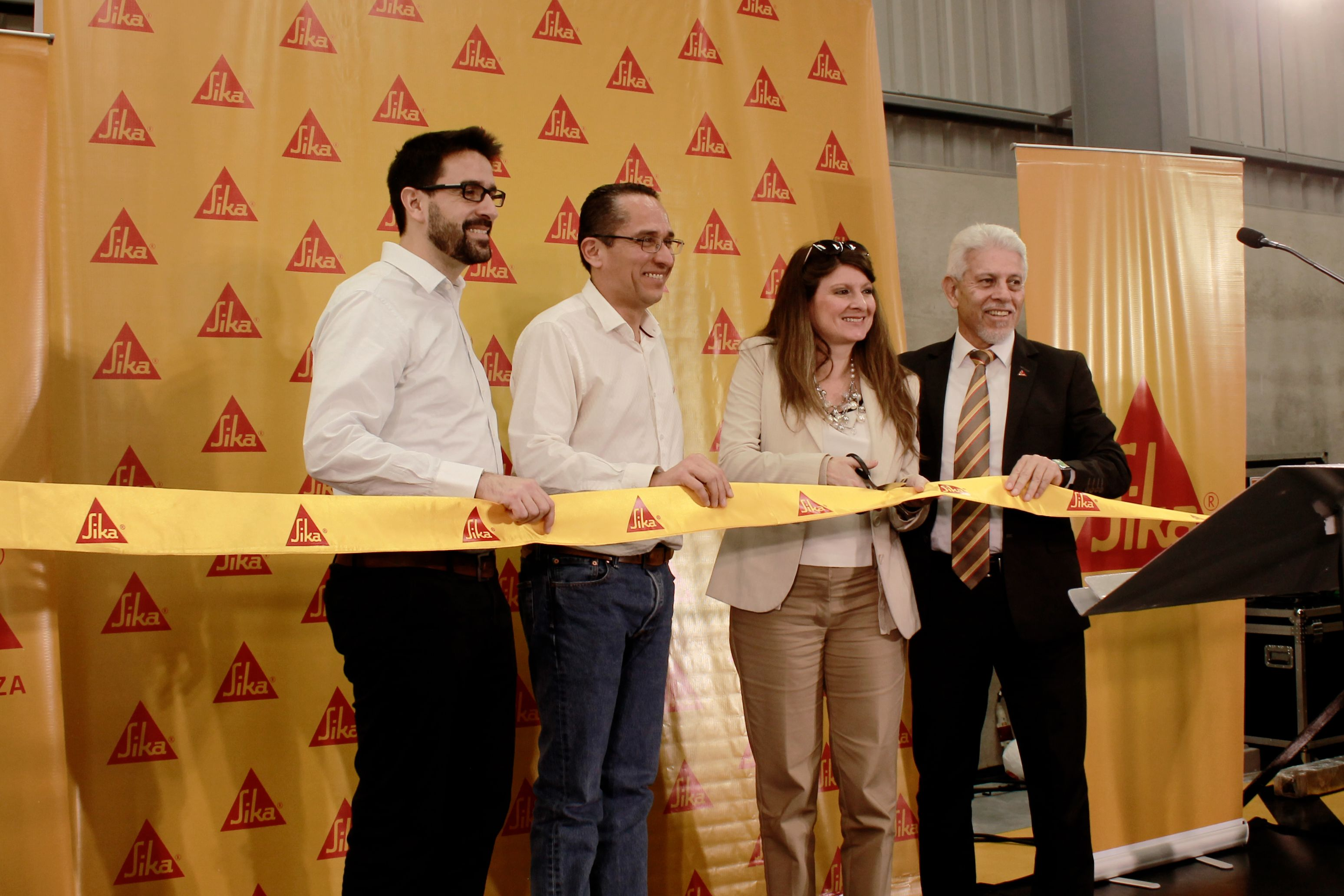 Guatemala new plant ribbon cutting ceremony