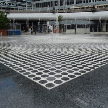Fountain at the Hague Central Station in The Netherlands