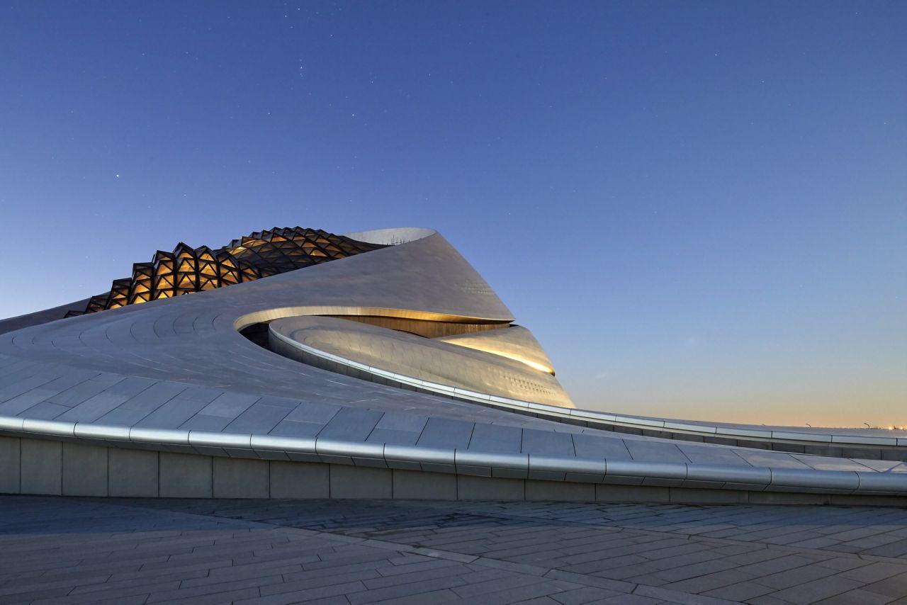 Side view of Harbin Opera House