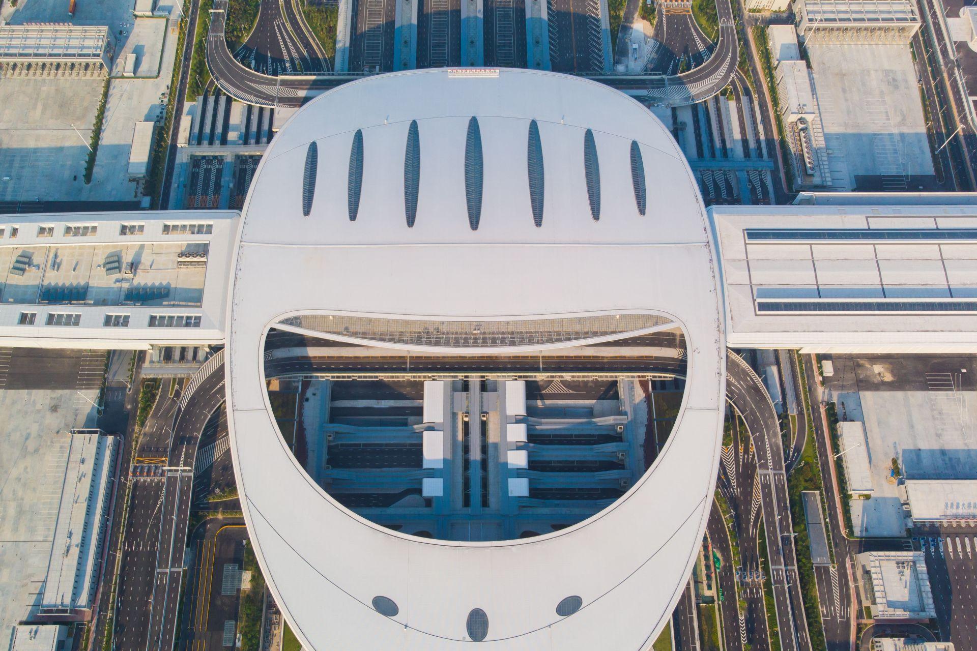 Port of the Hong Kong-Zuhai-Macau Bridge Complex at Zhuhai