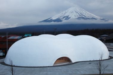 Liquid applied membrane for seamless roofing of Hoto Fudo in Japan designed by Takeshi Hosaka
