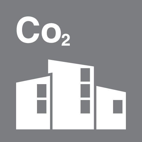 Carbon Dioxide Building Icon