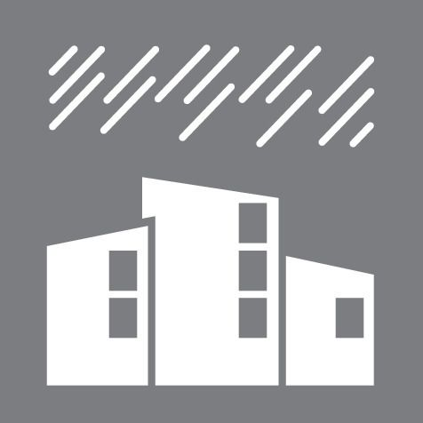 Water Ingress Buildings Icon
