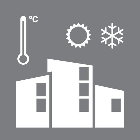Wide Temperature Variation Building Icon