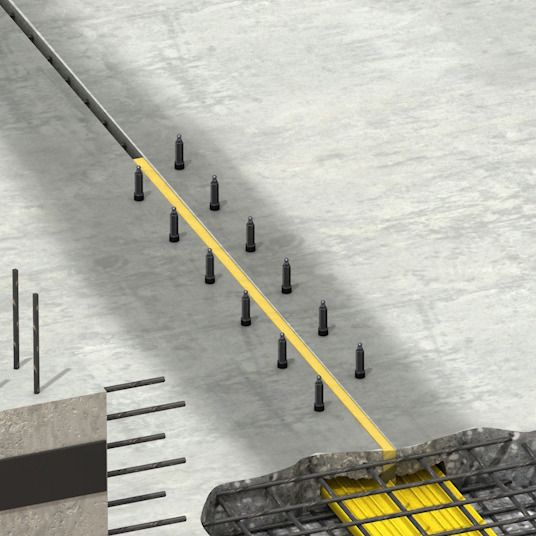 Injection for waterproofing leaking expansion joint 3d rendering