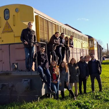 Sika team in front of train