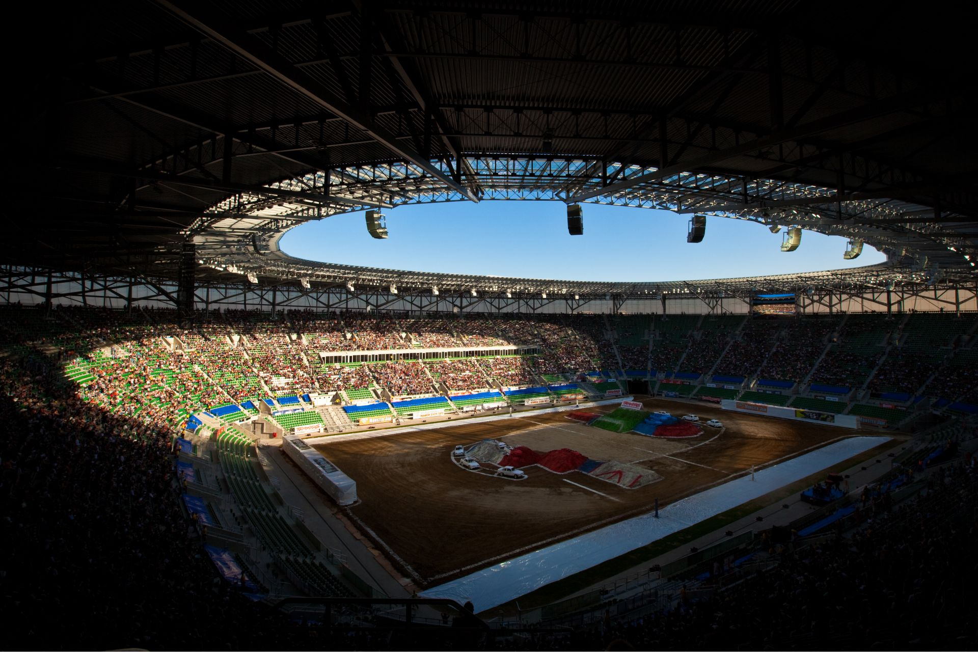 Municipal Stadium in Wroclaw, Poland