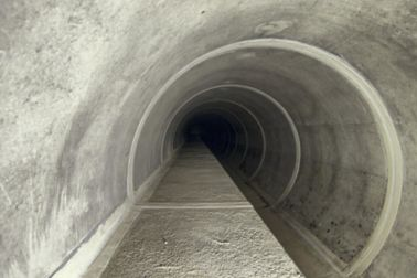 Sikadur Combiflex waterproofing tape at joints in ground water tunnel underground