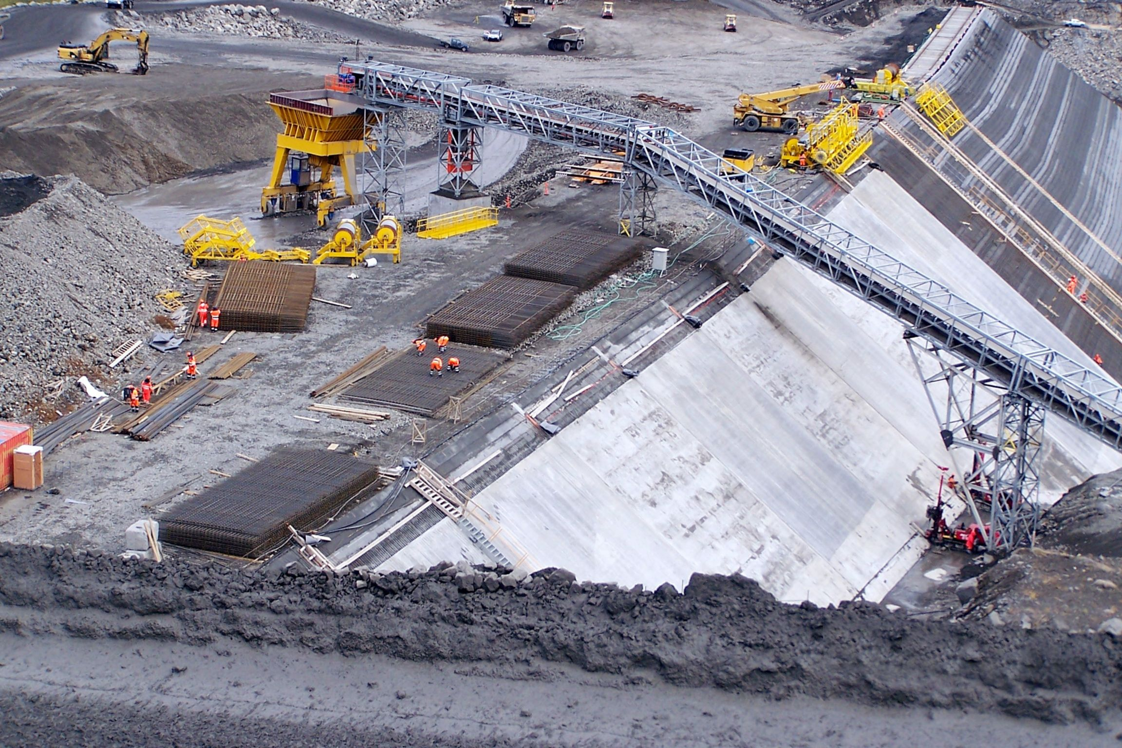Construction site of Karahnjukar Hydropower Plant in Iceland
