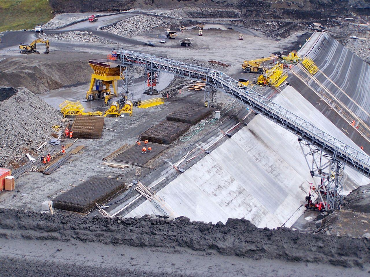Construction site of Karahnjukar Hydropower Plant in Iceland