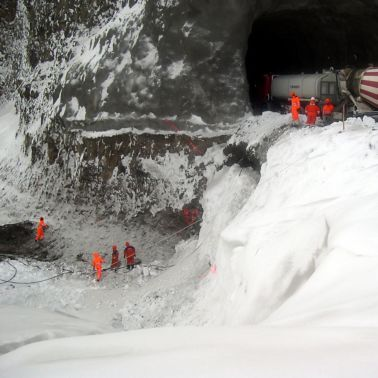 Concrete works under arctic conditions at Karahnjukar Hydropower Plant in Iceland
