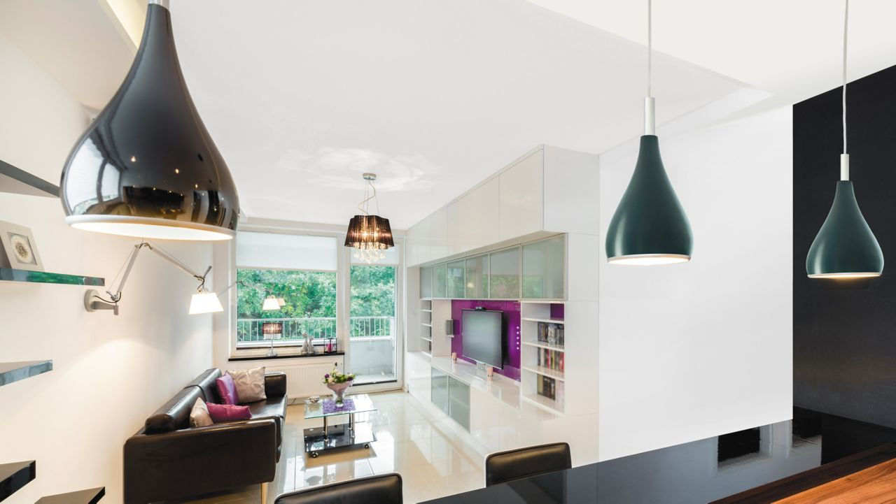 Modern kitchen with Glass-like surface finishes