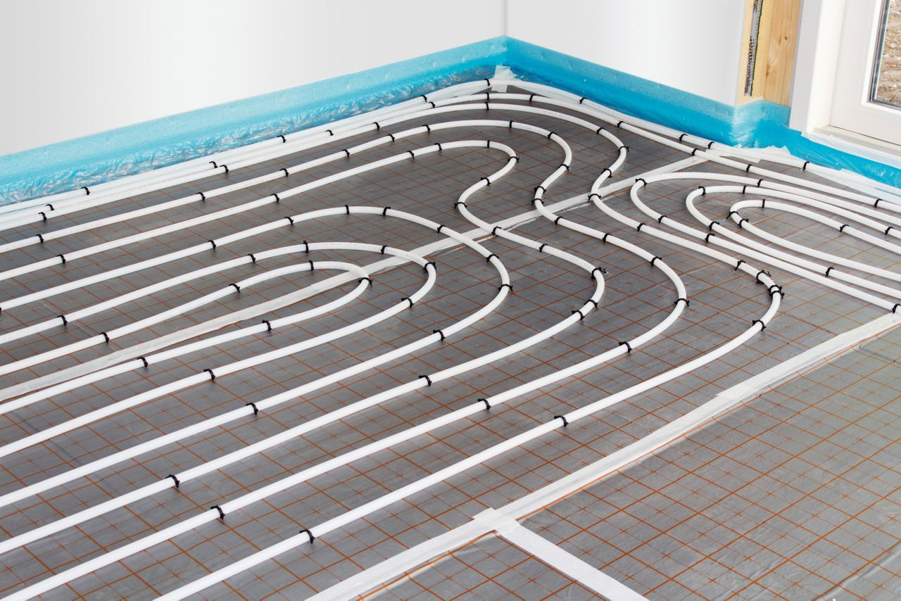 Underfloor sysstem using self adhesive pressure sensitive tapes and membranes
