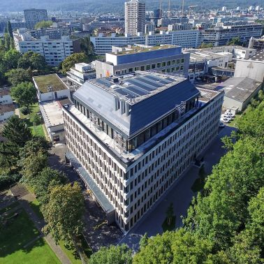 Sika office in Zurich surrounded by trees