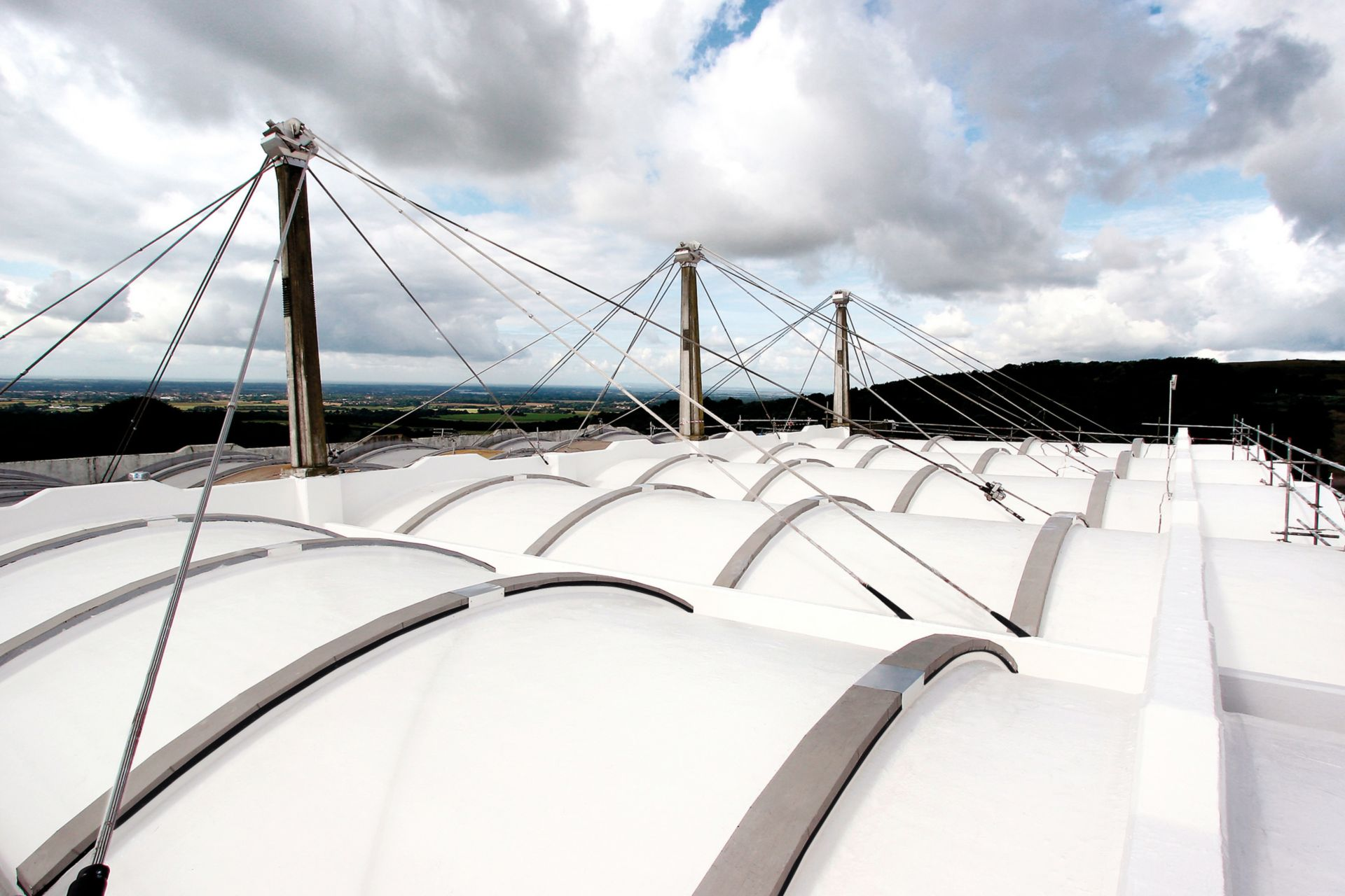 Liquid applied membrane detail on roof