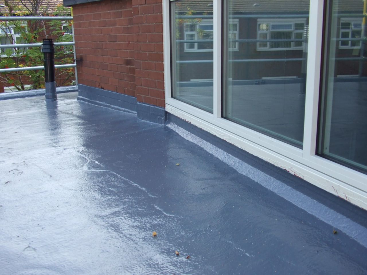 Liquid applied membrane on roof terrace