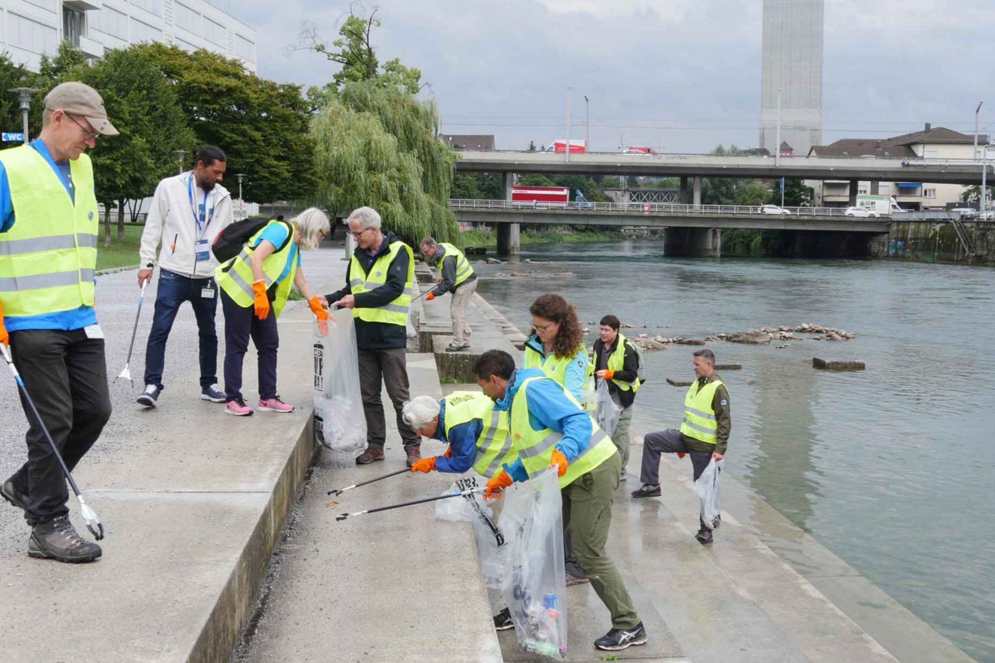 Team Collecting Waste