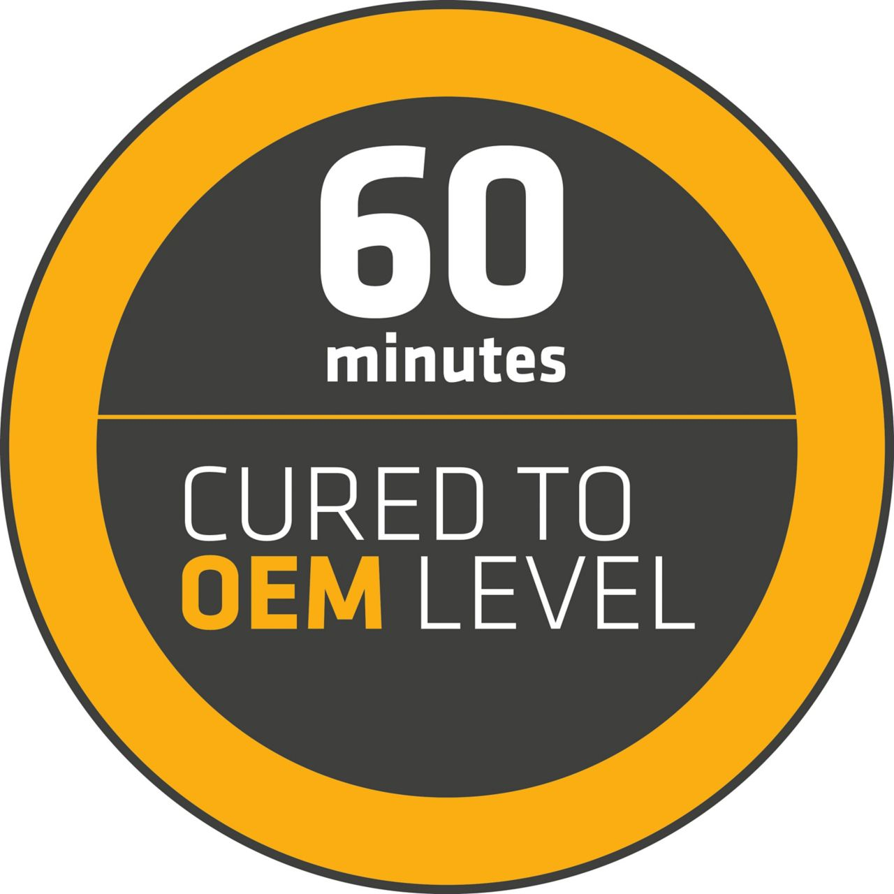 Sixty minute cured to oem level logo