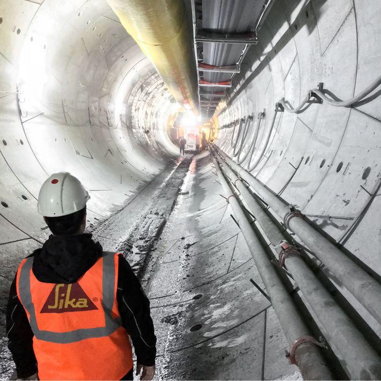 Construction of Metro Dudullu in Istanbul, Turkey