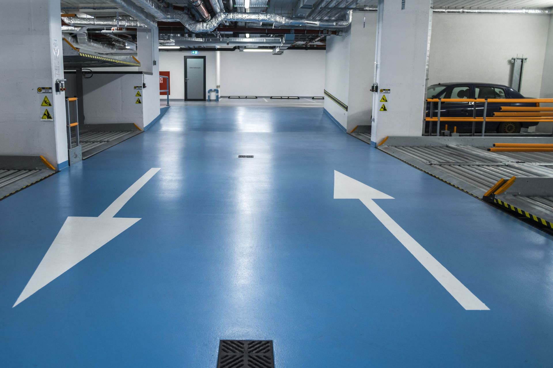 Garage Floor of the Medicus Clinic in Wroclaw, Poland