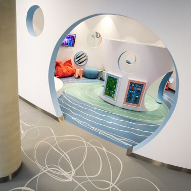 Floor of the Medicus Clinic in Wroclaw, Poland