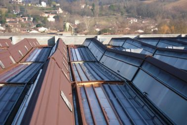 Metal roof before renovation repair