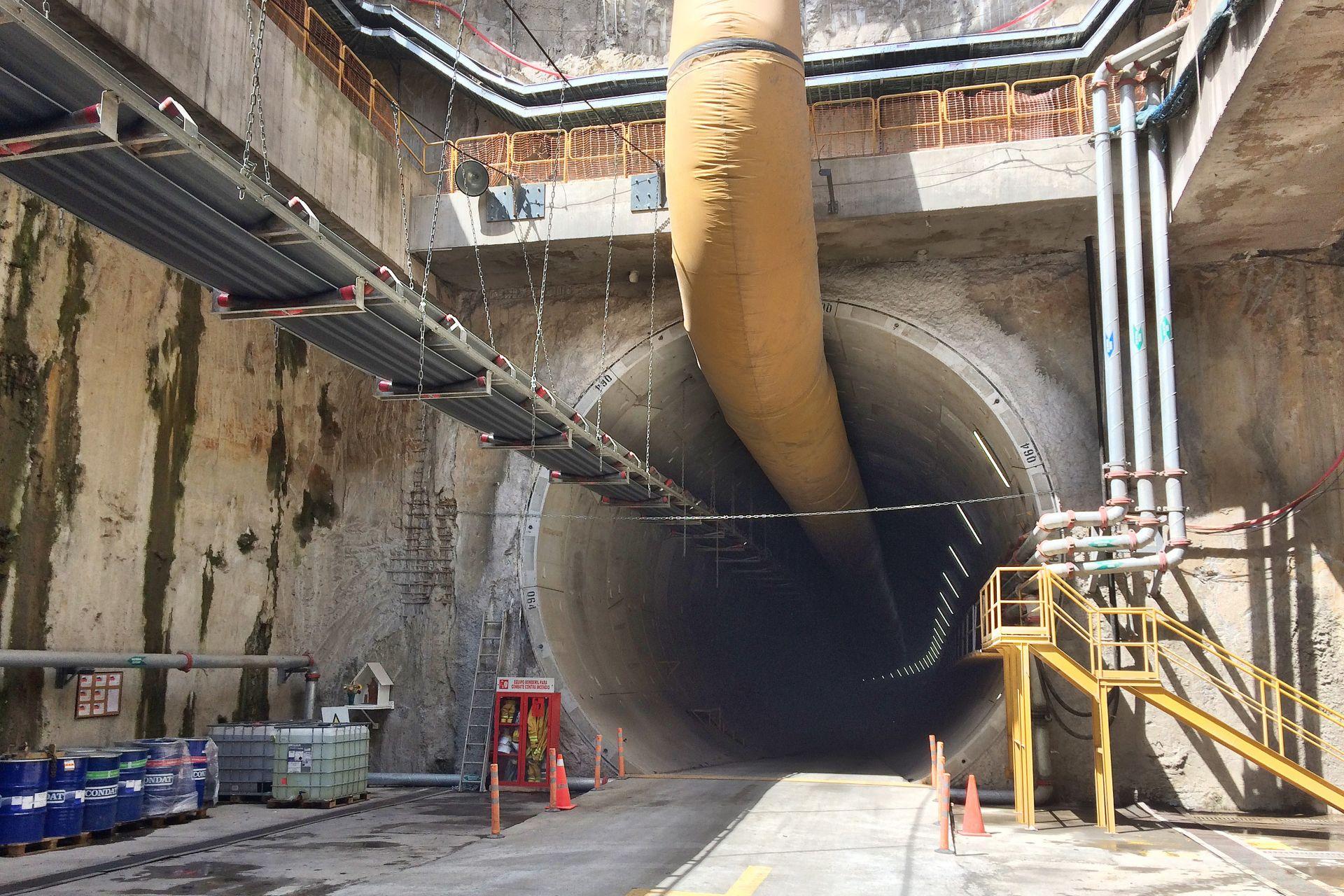 Tunnel built for the metro in Quito, Ecuador