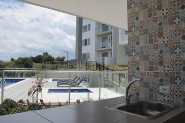 Balcony of the residential complex Mirador De Los Ocobos Armenia, Colombia