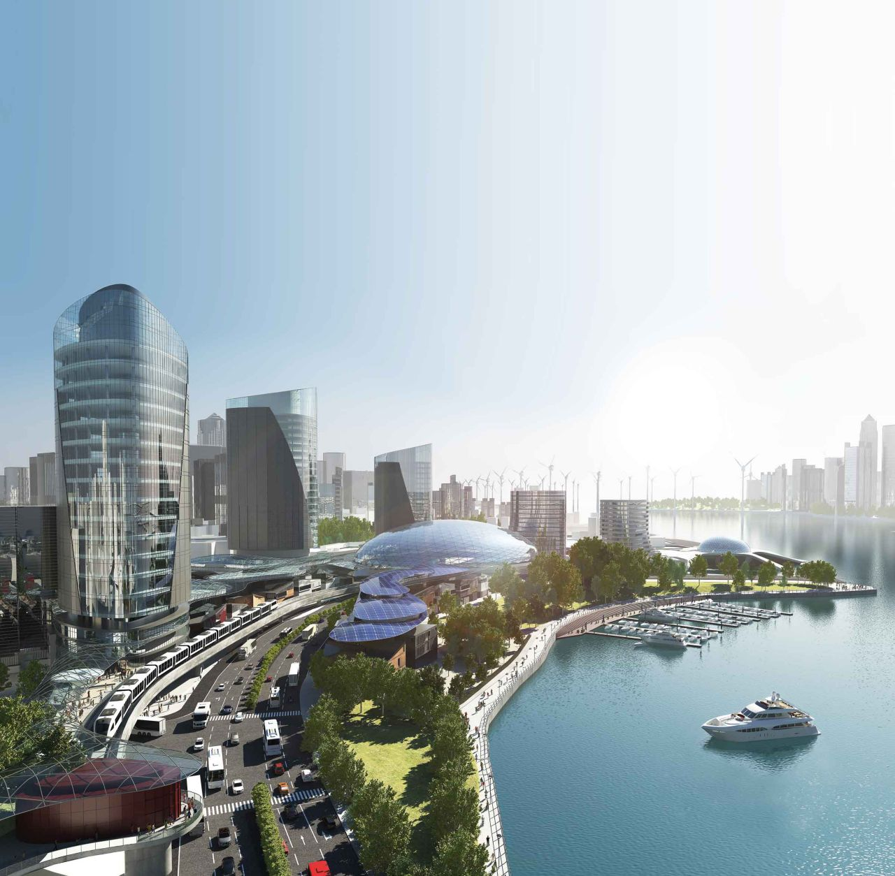3D city showing all industy applications