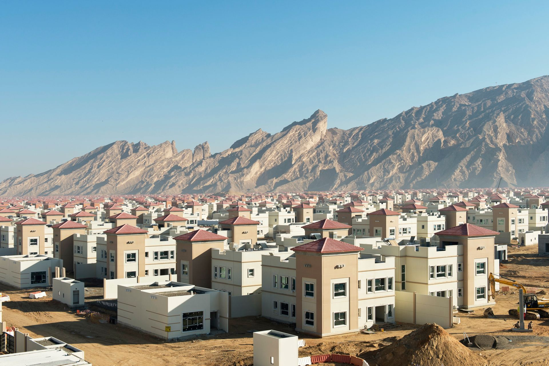 Construction site of Musanada Villas in United Arab Emirates