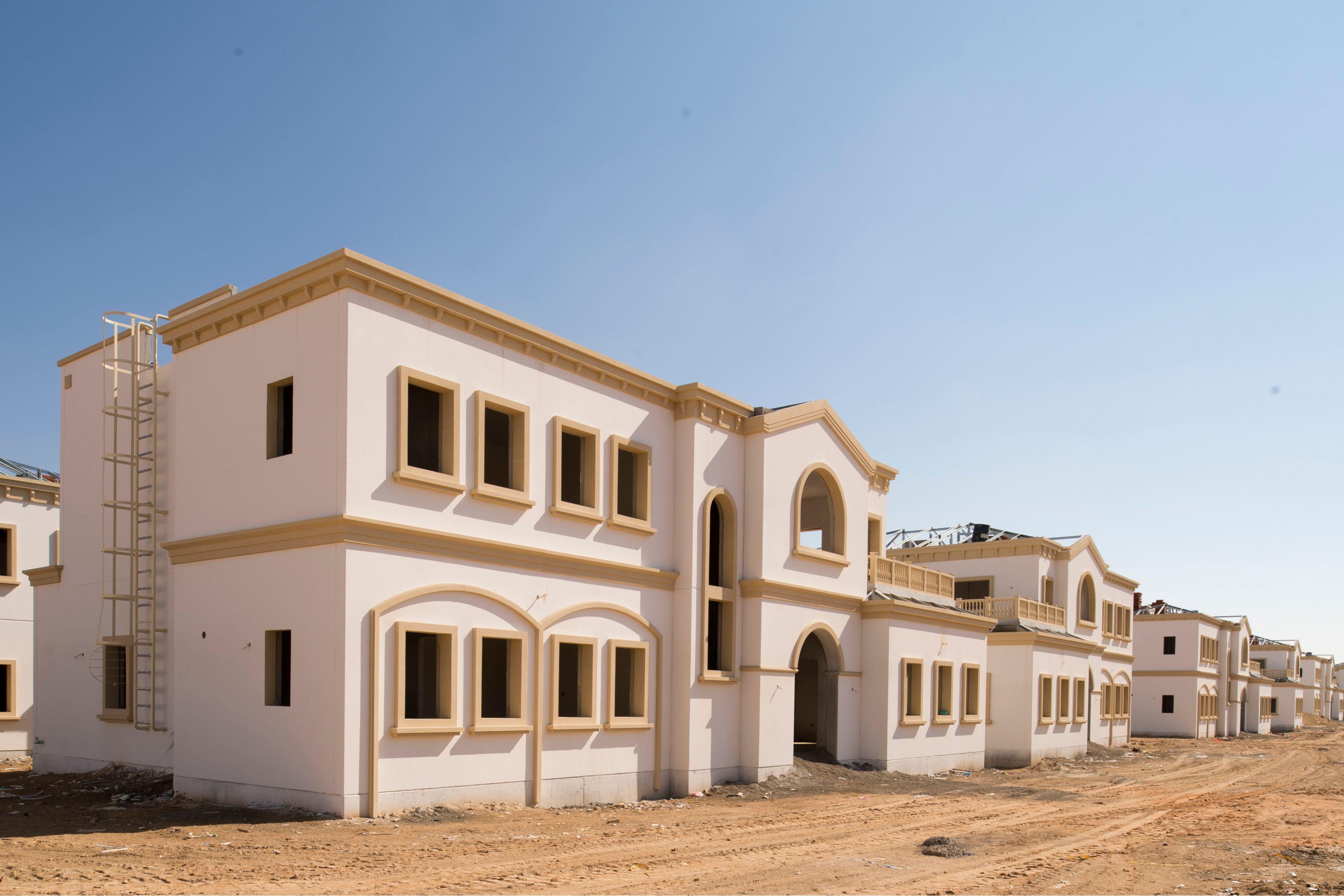 Construction site of Musanada Villas in United Arab Emirates