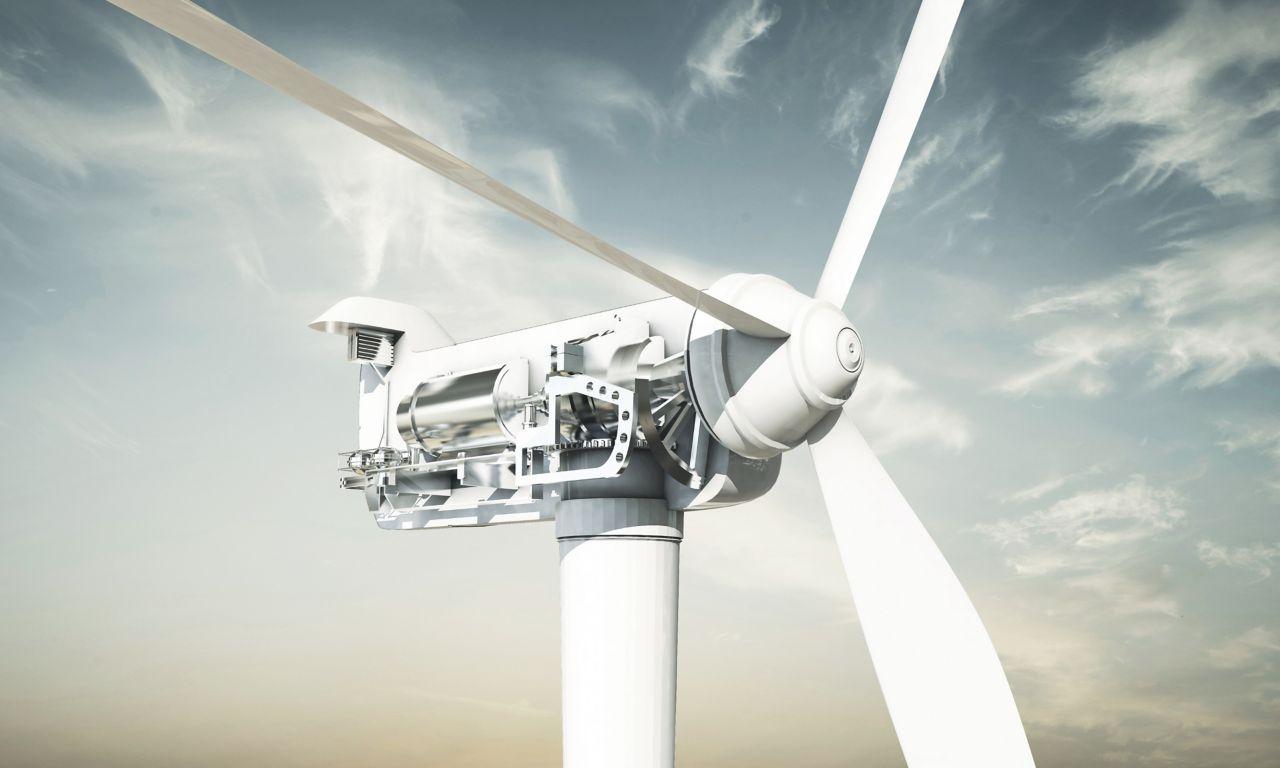 Inside of a turbine