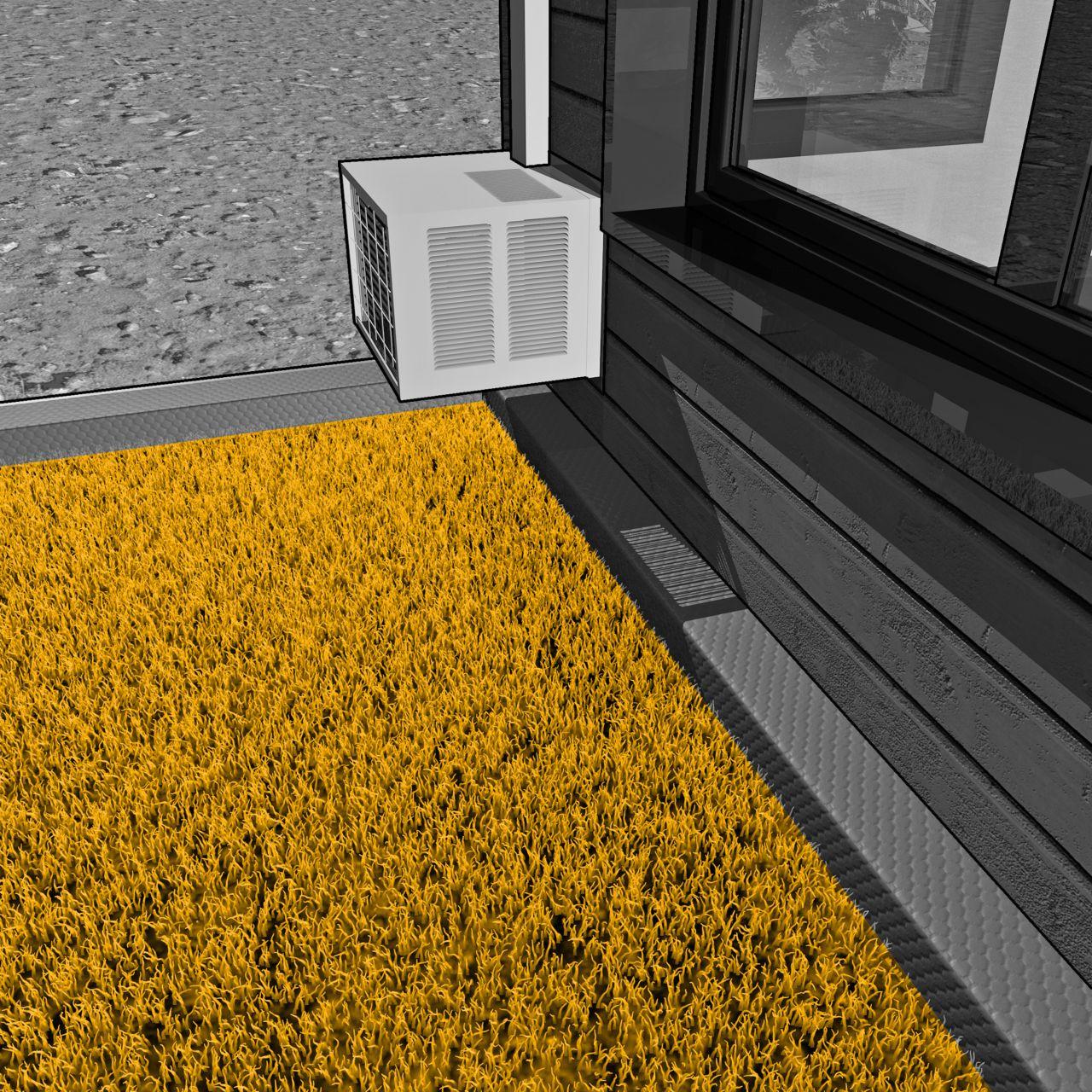 室外施工的绿色屋顶露台示意图