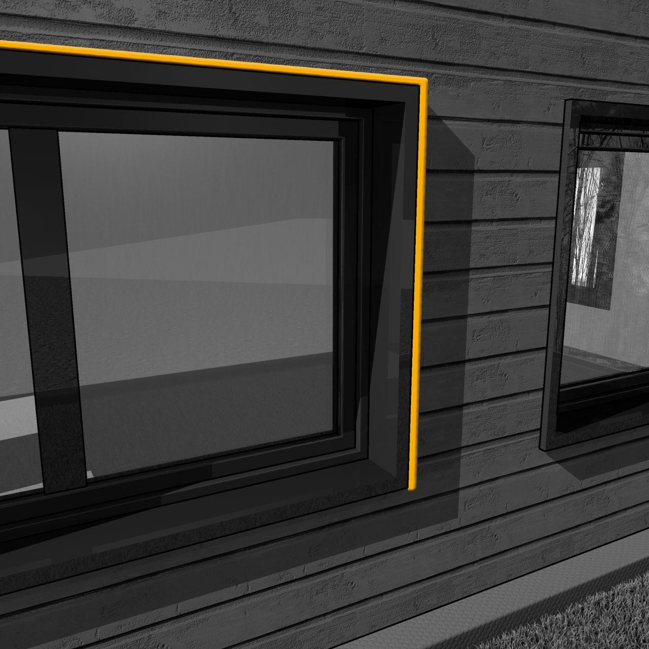 接缝密封的插图隔音窗异地建设
