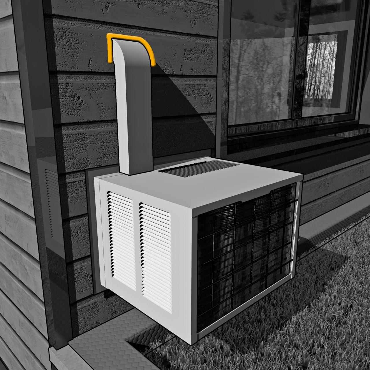 用于空调单位管道渗透的接头密封剂的例证非石头建筑