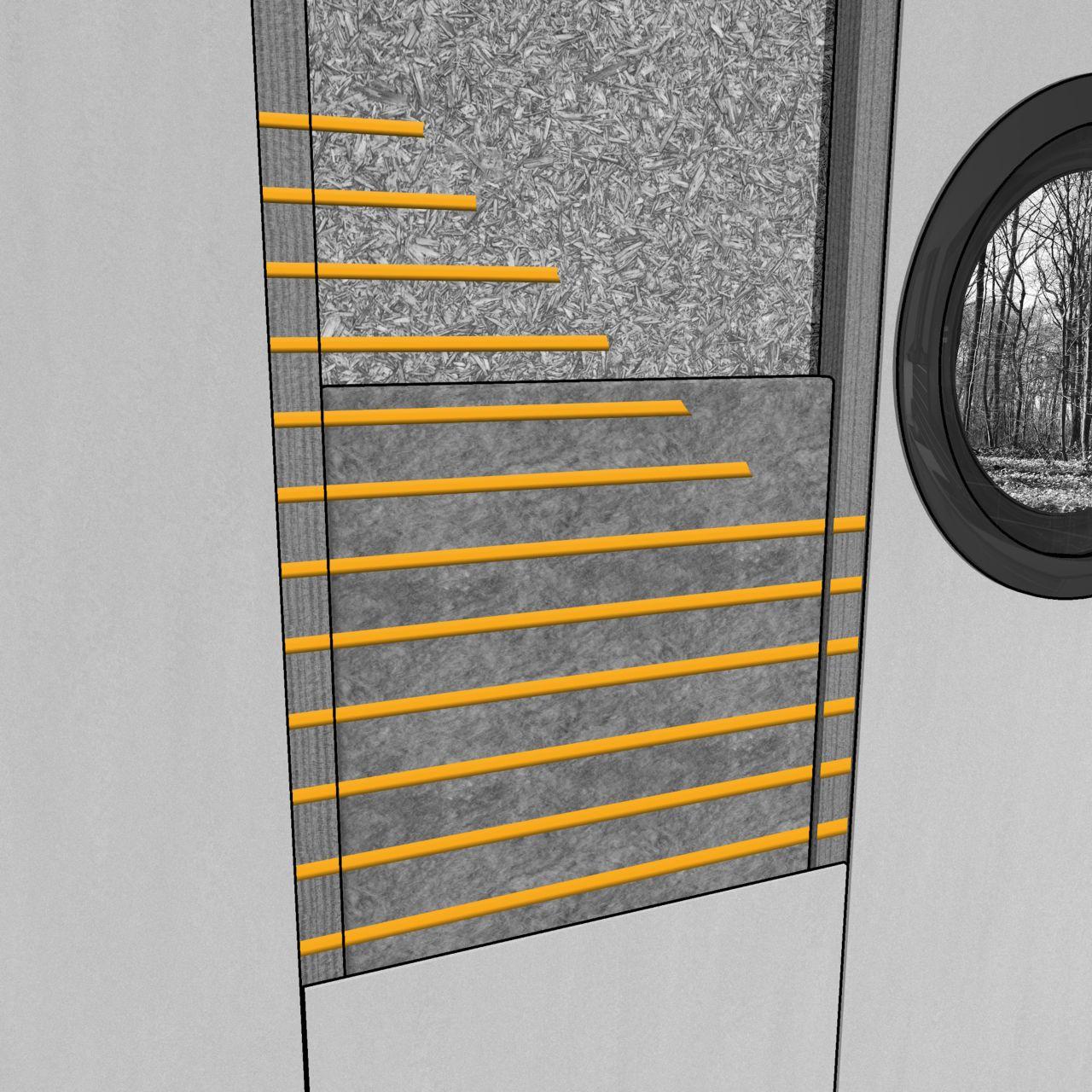 内部夹层板胶粘剂在工地外施工的插图