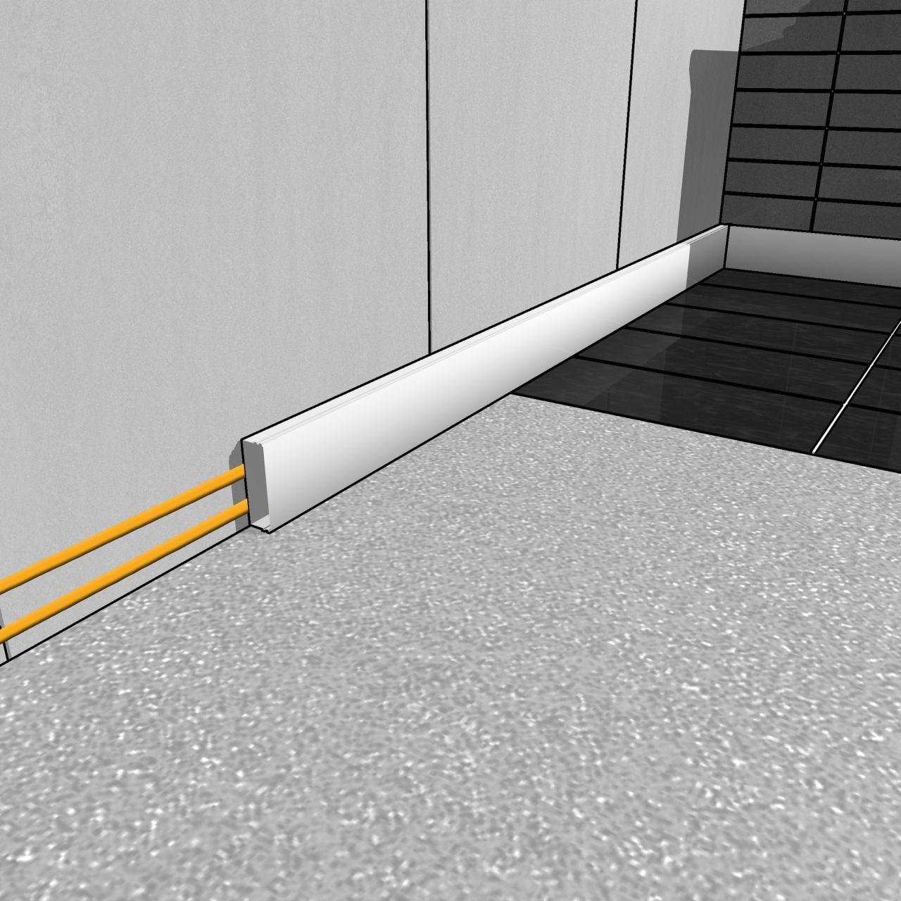 内部踢脚板胶粘剂在工地外施工的插图