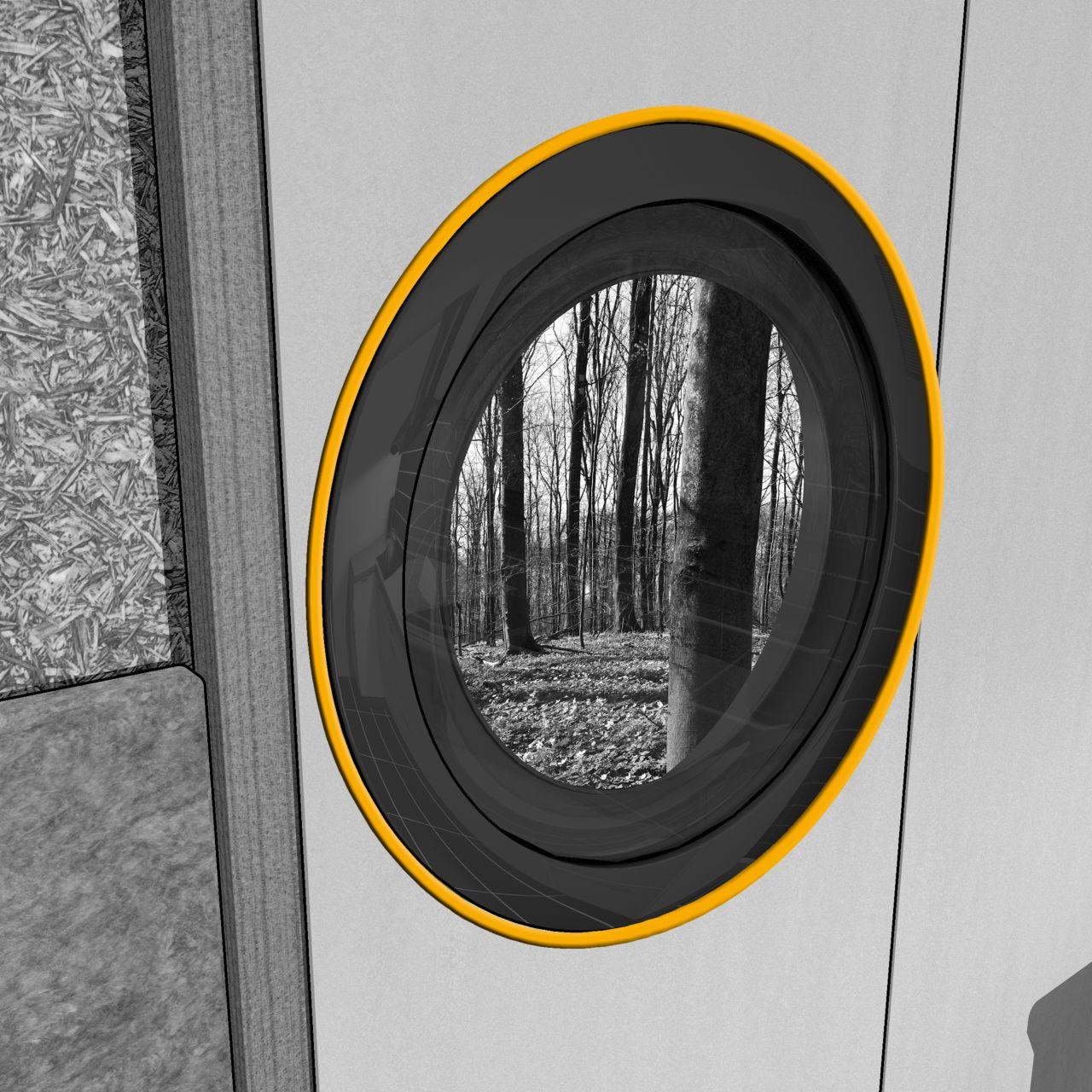 接缝密封的插图内部隔音窗异地建设
