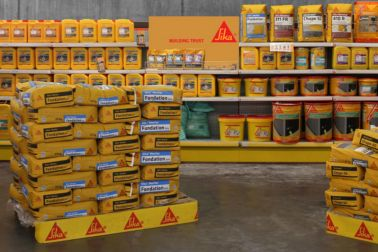 Sika shelf presentation for French distributors