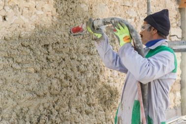 "PARNATUR?, the first ""easy-to-spray"" thermal and phonic insulation hemp-based mortar"